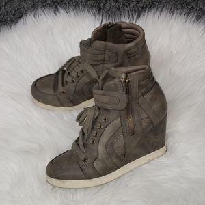 {Candie's} Wedge Sneakers Booties